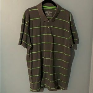 Aeropostale Gray and Lime Green polo